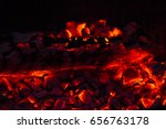 burning firewood in the... | Shutterstock . vector #656763178