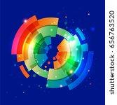 techno geometric vector circle... | Shutterstock .eps vector #656763520
