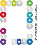 cds   rectangular frame ... | Shutterstock .eps vector #656763538