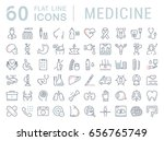 set line icons  sign in flat... | Shutterstock . vector #656765749