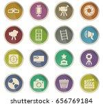 cinema vector icons for user... | Shutterstock .eps vector #656769184