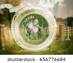 old camera   lens  hippodrome ... | Shutterstock . vector #656776684