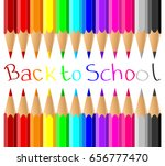 colored pencils on white... | Shutterstock .eps vector #656777470