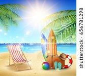 summer holiday concept | Shutterstock .eps vector #656781298