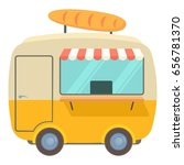 fast food trailer with loaf... | Shutterstock . vector #656781370