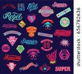 varsity old school patch ... | Shutterstock .eps vector #656782636