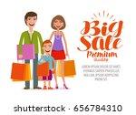 Big Sale Banner. Happy Family...