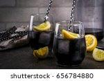 trendy food. summer refreshment ... | Shutterstock . vector #656784880