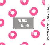 seamless pink dots  seamless... | Shutterstock .eps vector #656786638