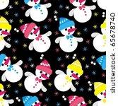 snowmen   Shutterstock .eps vector #65678740