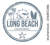 long beach sign or stamp on... | Shutterstock .eps vector #656801386