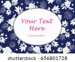 card flower vintage | Shutterstock .eps vector #656801728