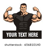 front double biceps pose ... | Shutterstock .eps vector #656810140