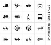 set of 16 editable shipment... | Shutterstock .eps vector #656817133