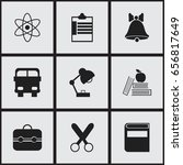 set of 9 editable education... | Shutterstock .eps vector #656817649