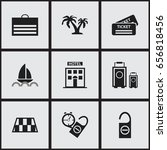 set of 9 editable journey icons....
