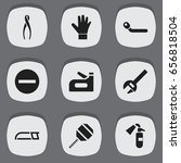 set of 9 editable tools icons....