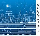 infrastructure illustration ... | Shutterstock .eps vector #656823280