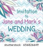 wedding invitation | Shutterstock .eps vector #656826649
