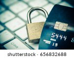 credit card data security... | Shutterstock . vector #656832688