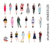 woman fashion | Shutterstock .eps vector #656833120
