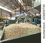 plastic recycling plant | Shutterstock . vector #656834734
