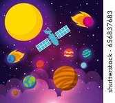 solar system flat | Shutterstock .eps vector #656837683