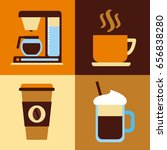 icons set coffee delicious flat | Shutterstock .eps vector #656838280