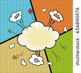 comic background. vector cloud... | Shutterstock .eps vector #656840476