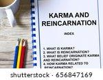 karma and reincarnation concept ... | Shutterstock . vector #656847169