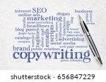 copywriting word cloud   ... | Shutterstock . vector #656847229