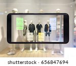 augmented reality marketing... | Shutterstock . vector #656847694