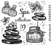 spa collection. hand drawn... | Shutterstock .eps vector #656850124