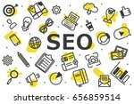 the pattern of seo and smm... | Shutterstock .eps vector #656859514