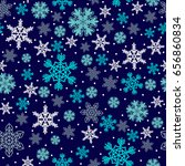 christmas pattern made of... | Shutterstock . vector #656860834