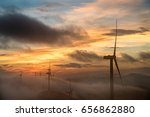 wind turbine production of... | Shutterstock . vector #656862880