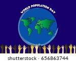 world population day | Shutterstock .eps vector #656863744