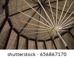 leaf roof on the top | Shutterstock . vector #656867170