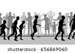 editable vector cutout... | Shutterstock .eps vector #656869060