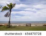 sea view with chair | Shutterstock . vector #656870728