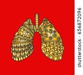 human organ lung zentangle style | Shutterstock .eps vector #656872096