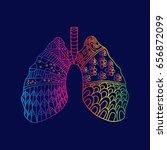 human organ lung zentangle style | Shutterstock .eps vector #656872099