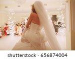 beautiful wedding couple...   Shutterstock . vector #656874004