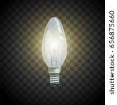 light bulb on transparent... | Shutterstock .eps vector #656875660