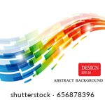 colorful line background design | Shutterstock .eps vector #656878396