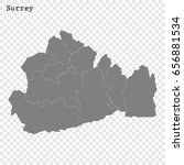 high quality map of surrey is a ... | Shutterstock .eps vector #656881534