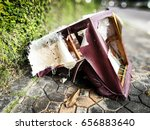 abstract broken and ruined... | Shutterstock . vector #656883640
