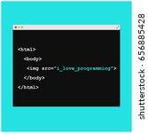 i love programming written in... | Shutterstock .eps vector #656885428