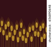 vector seamless repeating wheat ... | Shutterstock .eps vector #656890648