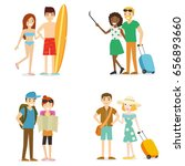 people on summer vacation... | Shutterstock .eps vector #656893660